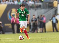 Pasadena, CA - Thursday June 09, 2016: Hector Herrera during a Copa America Centenario Group C match between Mexico (MEX) and Jamaica (JAM) at Rose Bowl Stadium.