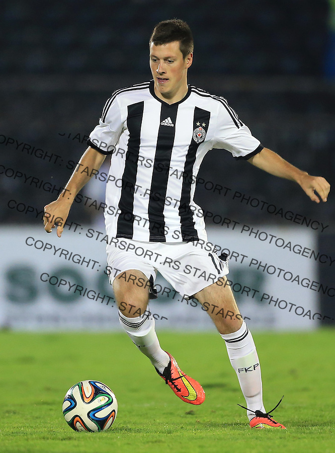 BELGRADE, SERBIA - AUGUST 06: Nikola Ninkovic of FC Partizan Belgrade in action during the UEFA Champions League third qualifying round 2nd leg match between Partizan Belgrade and Ludogorets Razgrad at the Stadium JNA on August 06, 2014 in Belgrade, Serbia, 2014. (Photo by Srdjan Stevanovic/Getty Images)