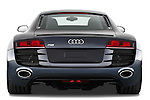 Straight rear view of a 2009 - 2012 Audi R8 V10 FSI Coupe.