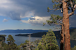 Thunderstorm approaching Emerald Bay at Lake Tahoe, CA