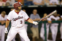 South Carolina Adrian Morales in Game 10 of the NCAA Division One Men's College World Series on June 24th, 2010 at Johnny Rosenblatt Stadium in Omaha, Nebraska.  (Photo by Andrew Woolley / Four Seam Images)