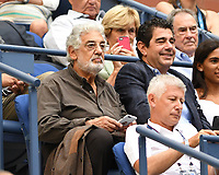 FLUSHING NY- AUGUST 30: Placido Domingo seen watching Maria Sharapova Vs Timea Babos on Arthur Ashe Stadium during the 2017 US Open Tennis at the USTA Billie Jean King National Tennis Center on August 30, 2017 in Flushing Queens. Credit: mpi04/MediaPunch ***NO NY DAILIES***