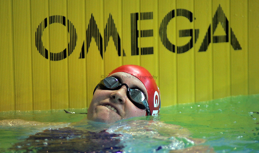 Photo: Paul Thomas..VISA Paralympic World Cup 2007. Swimming. 12/05/2007...Claire Cashmore of Great Britain.
