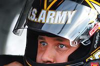 May 1, 2009; Richmond, VA, USA; NASCAR Sprint Cup Series driver Ryan Newman during qualifying for the Russ Friedman 400 at the Richmond International Raceway. Mandatory Credit: Mark J. Rebilas-