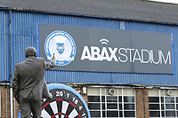 A general view of the stadium and the Chris Turner statue during the Sky Bet League 1 match between Peterborough and Fleetwood Town at London Road, Peterborough, England on 28 April 2018. Photo by Carlton Myrie.