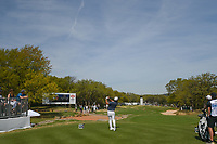 Alexander Levy (FRA) watches his tee shot on 7 during round 1 of the World Golf Championships, Dell Match Play, Austin Country Club, Austin, Texas. 3/21/2018.<br /> Picture: Golffile | Ken Murray<br /> <br /> <br /> All photo usage must carry mandatory copyright credit (&copy; Golffile | Ken Murray)