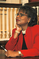 "Brandeis Professor Anita Hill discusses her new book ""Reimagining Equality:Stories of Gender Race and Finding Home as part of the Cambridge Forum series How we Live Today at First Parish Church Cambridge MA 10.4.11"