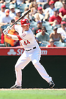 09/13/12 Anaheim, CA: Los Angeles Angels first baseman Mark Trumbo #44 during an MLB game played between the oakland Athletics and Los Angeles Angels at Angel Stadium. The Angels defeated the A's 6-0.