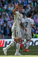 Real Madrid&rsquo;s Mariano Diaz celebrates goal during La Liga match between Real Madrid and Villarreal CF at Santiago Bernabeu Stadium in Madrid, Spain. May 05, 2019. (ALTERPHOTOS/A. Perez Meca)<br /> Liga Campionato Spagna 2018/2019<br /> Foto Alterphotos / Insidefoto <br /> ITALY ONLY