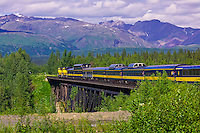 The Alaska Railroad enroute from Talkeetna to Denali National Park, Alaska