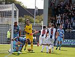 04.08.18 St Mirren v Dundee: Danny Mullen runs off after scoring goal no 2