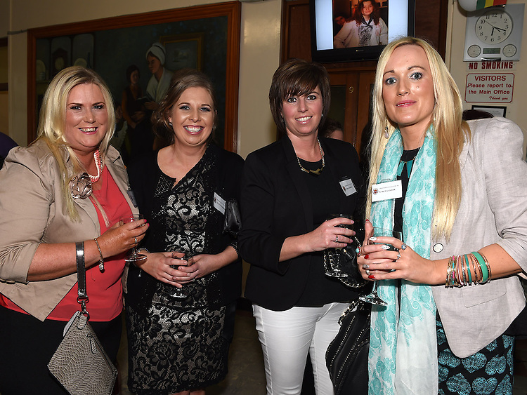 Nicola McCormack, Kelly Wilkinson, Fiona Murray and Karen Gaynor pictured at the Class of 1994 reunion at Our Lady's College Greenhills. Photo:Colin Bell/pressphotos.ie