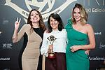 "Paloma Bloyd and Ana Arias attend ""Iris Academia de Television' awards at Nuevo Teatro Alcala, Madrid, Spain. <br /> November 18, 2019. <br /> (ALTERPHOTOS/David Jar)"