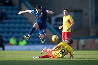 8th February 2020; Dens Park, Dundee, Scotland; Scottish Championship Football, Dundee versus Partick Thistle; Graham Dorrans of Dundee hurdles the challenge of Stuart Bannigan of Partick Thistle