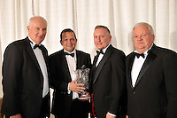 Waterford delegates, John Galvin, Hall of fame, Davy Fitzgerald Manager of the Year, (Clare) Sean Power, Special Merit Award and Tom Cunningham, Chairman, at the Bord G&aacute;is Energy Munster GAA Sports Star of the Year Awards in The Malton Hotel, Killarney on Saturday.  Picture by Don MacMonagle<br /> <br /> PR photo from Munster Council