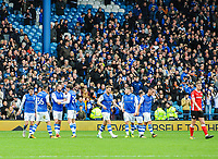 Sheffield Wednesday making it 1-0 during the Sky Bet Championship match between Sheff Wednesday and Barnsley at Hillsborough, Sheffield, England on 28 October 2017. Photo by Stephen Buckley / PRiME Media Images.