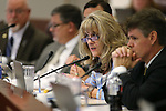Nevada Assemblywoman Jill Dickman, R-Sparks, works in committee at the Legislative Building in Carson City, Nev., on Monday, May 25, 2015. <br /> Photo by Cathleen Allison