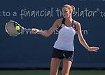 August  18, 2017:  Karolina Pliskova (CZE) defeated Caroline Wozniacki (DEN) 6-2 in the first set at the Western & Southern Open being played at Lindner Family Tennis Center in Mason, Ohio. ©Leslie Billman/Tennisclix/CSM