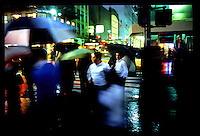 Jewish boys with umbrellas near Madison Square Gardens...New York City.  Street PhotographyNew York City, New York.  Street Photography from Manhattan and Brooklyn.  Subway, Union Square, Metro Stations, New York City Skyline, Michael Rubenstein, Matt Nager, Jacob Pritchard.