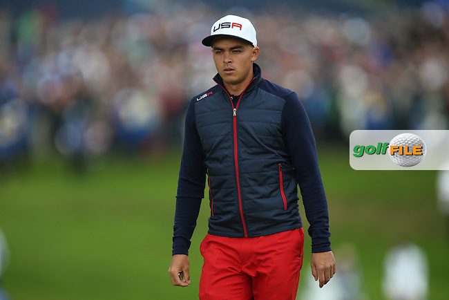 Rickie Fowler (USA) during Sunday's Singles at the 2014 Ryder Cup from Gleneagles, Perthshire, Scotland. Picture:  David Lloyd / www.golffile.ie