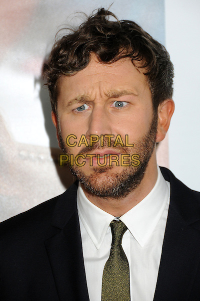"Chris O'Dowd.""This Is 40"" Los Angeles Premiere held at Grauman's Chinese Theatre, Hollywood, California, USA..December 12th, 2012.headshot portrait black white shirt tie green beard facial hair mouth open funny looks angry.CAP/ADM/BP.©Byron Purvis/AdMedia/Capital Pictures."