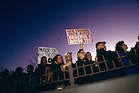 Brooklyn, New York - 33 March 1994 - Act-Up marches across the Brooklyn Bridge to protest Mayor Rudy Giuliani's plan to cut AIDS funds and serivces.
