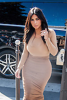 Kim Kardashian shopping in Paris - France