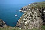 Navigation beacon, Porthgain, Pembrokeshire, Wales, UK