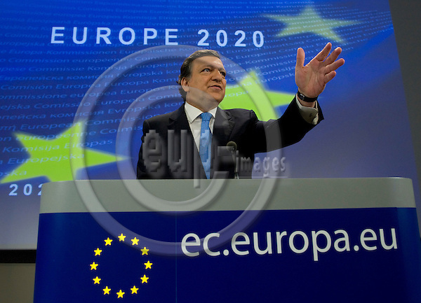 Brussels-Belgium - March 03, 2010 -- José Manuel BARROSO, President of the European Commission, in the HQ of the EC during a press conference on Europe 2020 -- Photo: Horst Wagner / eup-images