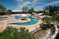 A pool at the Four Seasons Resort and Spa in Irving, Texas, Sunday, May 2, 2010. Four Seasons couldn't abstain from cost cutting in this downturn as it had in previous recessions because the worst hotel market in decades left the company last year with a 26% decline in revenue per available room in the U.S. Similarly, its occupancy fell to 57% from its usual perch above 70%...CREDIT: Matt Nager for The Wall Street Journal