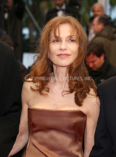 WWW.ACEPIXS.COM . . . . .  ..... . . . . US SALES ONLY . . . . .....May 20 2012, Cannes....Isabelle Huppert at the premiere of 'Amour' during the Cannes Film Festival on May 20 2012 in France ....Please byline: FAMOUS-ACE PICTURES... . . . .  ....Ace Pictures, Inc:  ..Tel: (212) 243-8787..e-mail: info@acepixs.com..web: http://www.acepixs.com