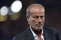 Calcio, Serie A: Roma vs Sampdoria. Roma, stadio Olimpico, 26 settembre 2012..AS Roma sporting director Walter Sabatini looks on prior to the start of the Italian Serie A football match between AS Roma and Sampdoria at Rome's Olympic stadium, 26 September 2012..UPDATE IMAGES PRESS/Riccardo De Luca