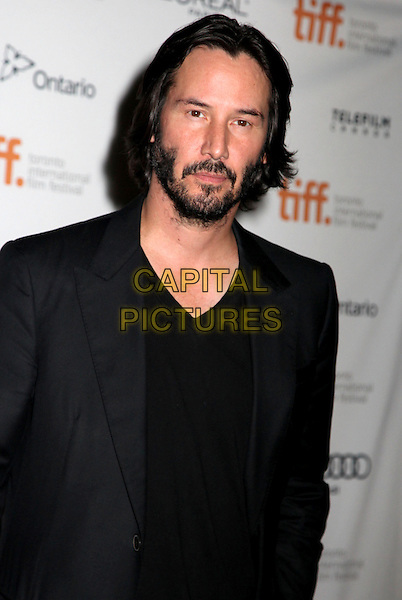 Keanu Reeves<br /> &quot;Man Of Tai Chi&quot; Premiere - 2013 Toronto International Film Festival held at Ryerson Theatre, Toronto, Ontario, Canada.<br /> September 10th, 2013<br /> half length black suit jacket top beard facial hair<br /> CAP/ADM/BPC<br /> &copy;Brent Perniac/AdMedia/Capital Pictures