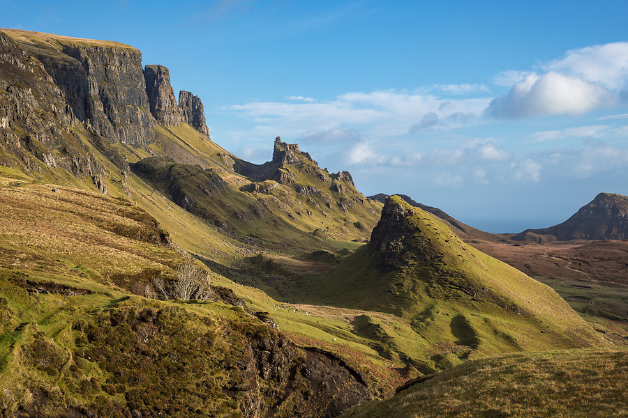 Quiraing Ridge, Isle of Skye, Scotland.