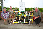 Jack Crean winner of the cup for best  Sheep Pen,  here with Pat Moore and  Joe Fitzgerald enjoying the Camp Sheep Fair on Thursday