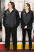 Courtney Kennedy (BC - Associate Head Coach), Katie Crowley (BC - Head Coach) - The Boston College Eagles defeated the visiting Providence College Friars 7-1 on Friday, February 19, 2016, at Kelley Rink in Conte Forum in Boston, Massachusetts.