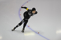 SCHAATSEN: HEERENVEEN: Thialf, 4th Masters International Speed Skating Sprint Games, 25-02-2012, Monique Boerema (F50) 1st, ©foto: Martin de Jong