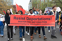 May Day Demonstration in Support of immigrants and workers Bostn MA 5.1.17