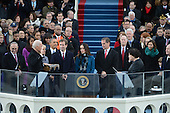 Vice President Joe Biden is sworn-in for a second term by Supreme Court Justice  Sonia Sotomayor during the public inauguration ceremony at the U.S. Capitol Building in Washington, D.C. on January 21, 2013.    .Credit: Pat Benic / Pool via CNP