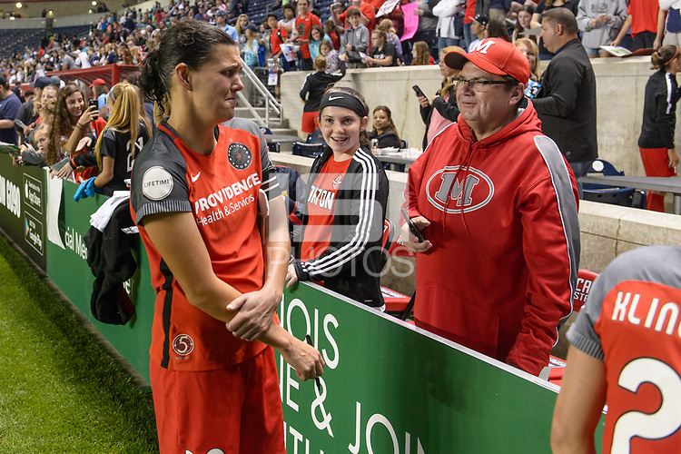 Bridgeview, IL - Saturday August 12, 2017: Christine Sinclair during a regular season National Women's Soccer League (NWSL) match between the Chicago Red Stars and the Portland Thorns FC at Toyota Park. Portland won 3-2.