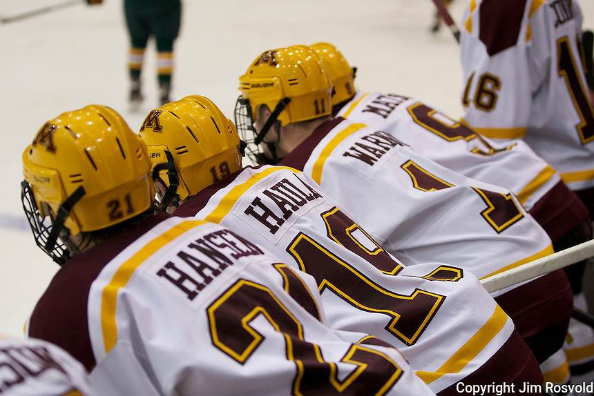 21 Oct 11: The University of Minnesota Golden Gophers host the University of Vermont Catamounts in a non-conference matchup at Mariucci Arena in Minneapolis, MN.