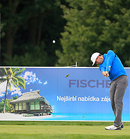 Charlie Ford (ENG) on the 3rd tee during Round 4 of the D+D Real Czech Masters at the Albatross Golf Resort, Prague, Czech Rep. 03/09/2017<br /> Picture: Golffile | Thos Caffrey<br /> <br /> <br /> All photo usage must carry mandatory copyright credit     (&copy; Golffile | Thos Caffrey)