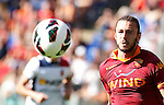 Calcio, Serie A: Roma-Bologna. Roma, stadio Olimpico, 16 settembre 2012..AS Roma defender Federico Balzaretti in action during the Italian Serie A football match between AS Roma and Bologna, at Rome, Olympic stadium, 16 September 2012. .UPDATE IMAGES PRESS/Isabella Bonotto