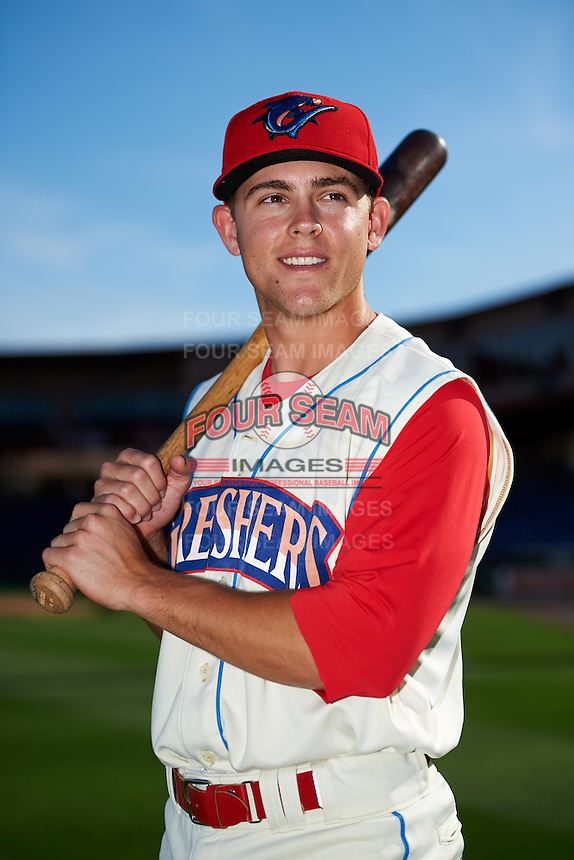 Clearwater Threshers second baseman Scott Kingery (31) poses for a photo before a game against the Dunedin Blue Jays on April 8, 2016 at Bright House Field in Clearwater, Florida.  Dunedin defeated Clearwater 8-3.  (Mike Janes/Four Seam Images)