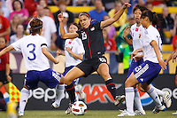 14 MAY 2011: USA Women's National Team forward Alex Morgan (13) during the International Friendly soccer match between Japan WNT vs USA WNT at Crew Stadium in Columbus, Ohio.