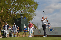 Ian Poulter (GBR) watches his tee shot on 3 during day 2 of the World Golf Championships, Dell Match Play, Austin Country Club, Austin, Texas. 3/22/2018.<br /> Picture: Golffile | Ken Murray<br /> <br /> <br /> All photo usage must carry mandatory copyright credit (&copy; Golffile | Ken Murray)