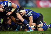 Francois Louw of Bath Rugby looks on at a scrum. Gallagher Premiership match, between Bath Rugby and Sale Sharks on December 2, 2018 at the Recreation Ground in Bath, England. Photo by: Patrick Khachfe / Onside Images