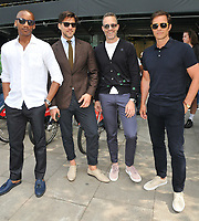 Eric Underwood, Johannes Huebl, Andrew Weitz and Paul Sculfor at the LFW (Men's) s/s 2019 Christopher Raeburn catwalk show, BFC Showspace, The Store Studios, The Strand, London, England, UK, on Sunday 10 June 2018.<br /> CAP/CAN<br /> &copy;CAN/Capital Pictures