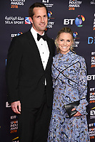 Sir Ben Ainslie &amp; wife, Georgie Thompson arriving for the BT Sport Industry Awards 2018 at the Battersea Evolution, London, UK. <br /> 26 April  2018<br /> Picture: Steve Vas/Featureflash/SilverHub 0208 004 5359 sales@silverhubmedia.com