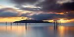 Sunrise over Angel Island, San Francisco Bay, California, USA